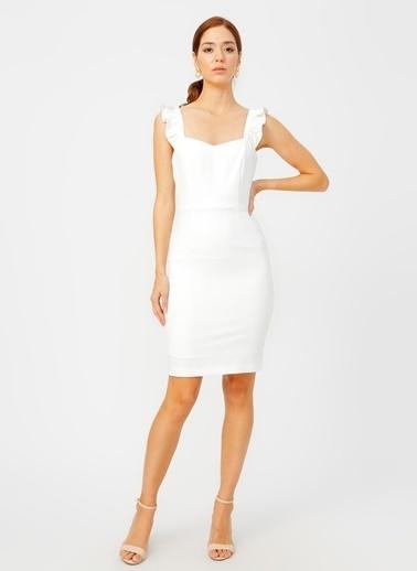 Random Elbise Beyaz